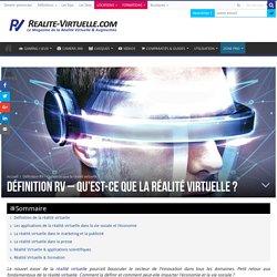 Définition : Qu'est-ce que la réalité virtuelle ?
