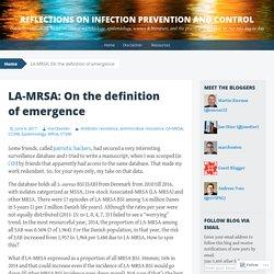 REFLECTIONSIPC 06/06/17 LA-MRSA: On the definition of emergence