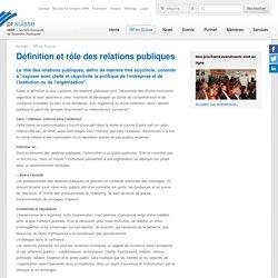 Définition et rôle des relations publiques