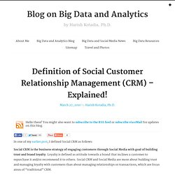 Definition of Social CRM - Explained!
