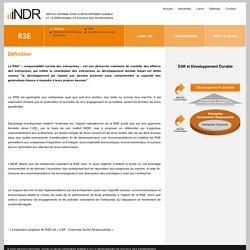 Définition / RSE / INDR