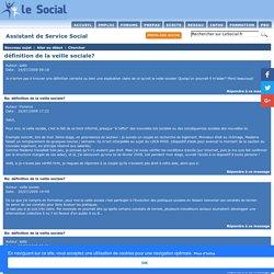définition de la veille sociale? - Assistant de Service Social