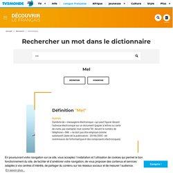 Mel : définition et synonyme de mel en français