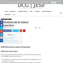 Définition de la valeur financière - DCG - JESF