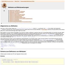 XML / Dokumenttyp-Definitionen (DTDs) / Attribute und Wertzuweisungen