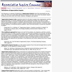 AI Definitions - The Appreciative Inquiry Commons