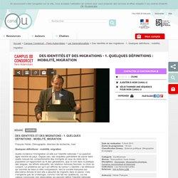 Des identités et des migrations - 1. Quelques définitions : mobilité, migration - Campus Condorcet – Paris-Aubervilliers