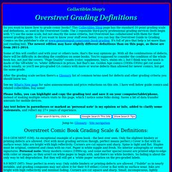 Overstreet comic book grading definitions & terms @ Collectibles Shop
