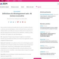 Définitions du développement web : 40 termes à connaître