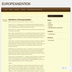 Definitions of Europeanization
