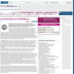 La e-formation en 10 définitions - Formaguide.com