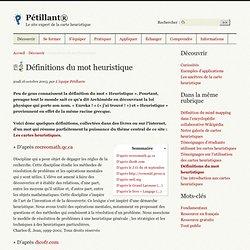 Pétillant® : Définitions du mot heuristique