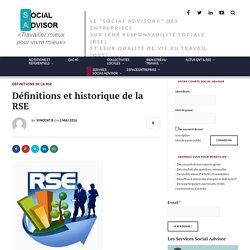 Définitions et historique de la RSE - Social Advisor
