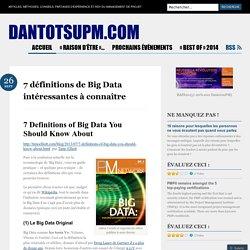 7 définitions de Big Data intéressantes à connaître