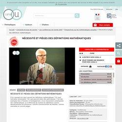 Nécessité et pièges des définitions mathématiques - Université de tous les savoirs
