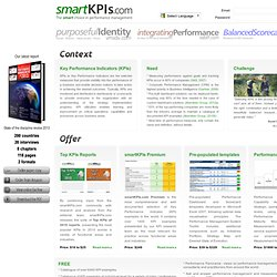 smartKPIs.com - KPI examples, KPI definitions, KPI reporting, templates, advice and smart performance resources
