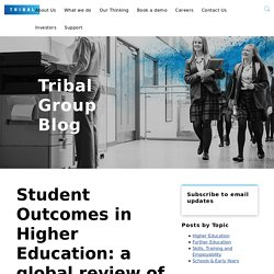 Student Outcomes in Higher Education: a global review of definitions, data and performance