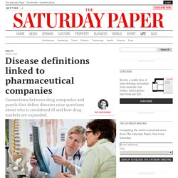 Disease definitions linked to pharmaceutical companies
