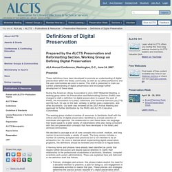 Association for Library Collections & Technical Services (ALCTS)