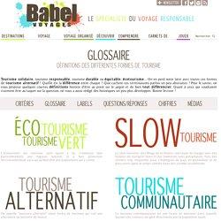 Définitions des formes de tourisme responsable et alternatif