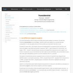 [Définition] Transidentité