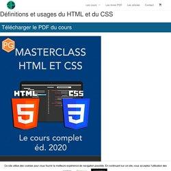 Définitions et usages du HTML et du CSS – Pierre Giraud