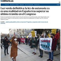 Luz verde definitiva: la ley de eutanasia ya es una realidad en España tras superar su último trámite en el Congreso