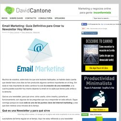Email Marketing: Guía Definitiva para Crear tu Newsletter Hoy Mismo