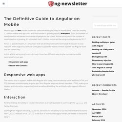The Definitive Guide to Angular on Mobile