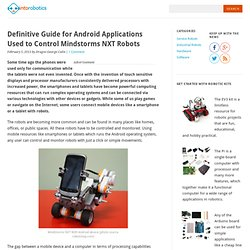 Definitive Guide for Android Applications Used to Control Mindstorms NXT Robots