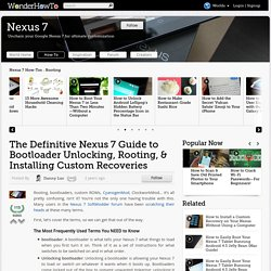 The Definitive Nexus 7 Guide to Bootloader Unlocking, Rooting, & Installing Custom Recoveries « Nexus 7