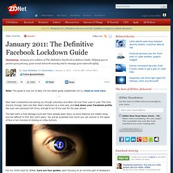January 2011: The Definitive Facebook Lockdown Guide