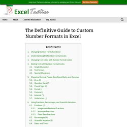 The Definitive Guide to Custom Number Formats in Excel - Excel Tactics