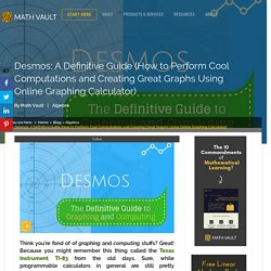 Desmos: A Definitive Guide in Graphing and Computing