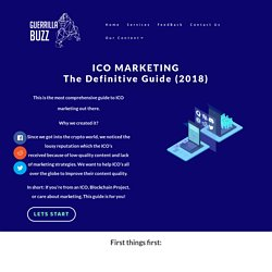ICO Marketing The Definitive Guide (2018) – GuerrillaBuzz