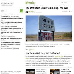 The Definitive Guide to Finding Free Wi-Fi