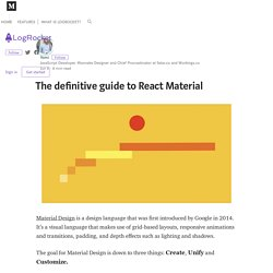 The definitive guide to React Material