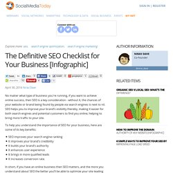 The Definitive SEO Checklist for Your Business [Infographic]