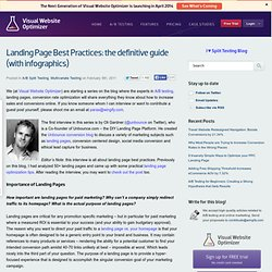 Landing Page Best Practices: the definitive guide (with infographics)