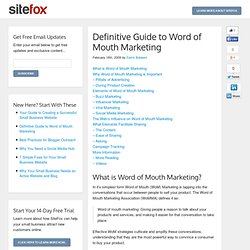Definitive Guide to Word of Mouth Marketing - Left The Box