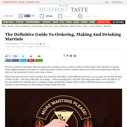 The Definitive Guide To Ordering, Making And Drinking Martinis