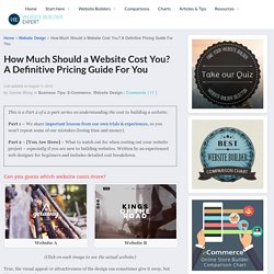 Definitive Guide - How Much Should A Website Cost You?