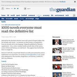 1000 novels everyone must read: the definitive list | Books