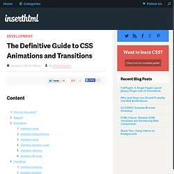 The Definitive Guide to CSS Animations and Transitions