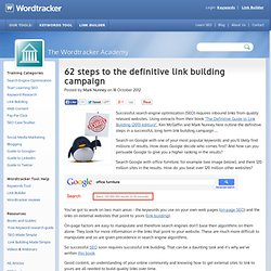 62 steps to the definitive link building campaign