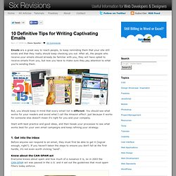 10 Definitive Tips for Writing Captivating Emails