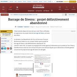 Barrage de Sivens : projet définitivement abandonné