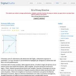 Formati carta: definizione, misure, metodo pratico di costruzione