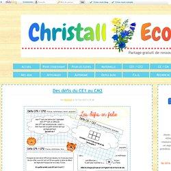 Défis en CE1-CE2-CM1-CM2 - Christall'Ecole