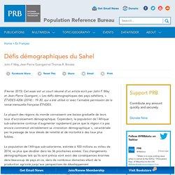 Défis démographiques du Sahel